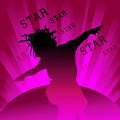 Bailarín estrella — Vector de stock