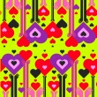Seamless pattern of hearts — Stockvectorbeeld