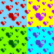 Hearts seamless wallpaper - Imagen vectorial