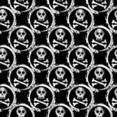 Wallpaper of skulls — Stock Vector
