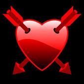 Сердца стрелами — Cтоковый вектор