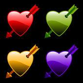 Καρδιές με βέλη — Διανυσματικό Αρχείο