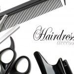 Постер, плакат: Scissors and comb