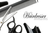 Scissors and comb — Stock Photo
