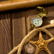 Royalty-Free Stock Photo: Compass and rope