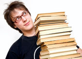 Student with books — Stockfoto
