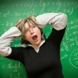 Stressed teacher — Stock Photo
