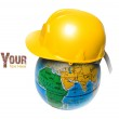Planet in the construction helmet — Stock Photo