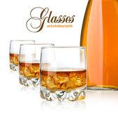 ウィスキー グラス — ストック写真