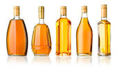 Whiskey bottles — Stock Photo