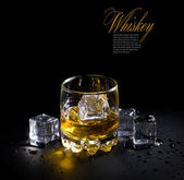 Whiskey glass — Stock Photo