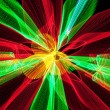 Red and green light waves — Stock Photo #8404755