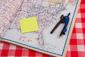 Travel Plans Map — Stock Photo