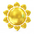 Golden Sun Icon On white background - Stock Photo