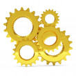 Golden Gears on white background — Stock Photo #10652231