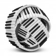 Stock Photo: Abstract Sphere from Piano Keys isolated on white background