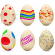 Set of Painted Easter Eggs on white background — Stock Photo #10654525