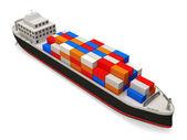Cargo Tanker on white background — Stock Photo