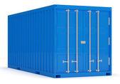 Cargo container geïsoleerd op witte achtergrond — Stockfoto