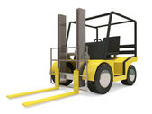 Industrial Forklift on white background — Stock Photo
