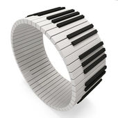 Abstract Piano Keys on white background — Stock Photo