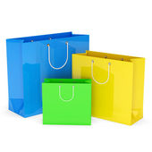 Colorful Shopping Bags on white background — Stock Photo