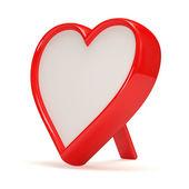 Portaretrato en forma de corazón sobre fondo blanco — Foto de Stock