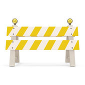Road Barrier on white background — Stock fotografie