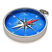 Compass isolated on white background — Stock Photo