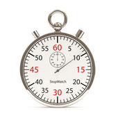 Stopwatch on white background — Stock Photo