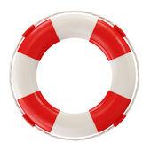 Red Lifebelt isolated on white background — Stock Photo