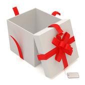 Open Gift Box isolated on white background — Stock Photo