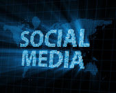 Abstract Background of Social Media with Glowing Rays — Стоковое фото