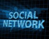 Streszczenie tło społeczne sieci promienie świecące — Zdjęcie stockowe