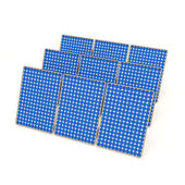 Solar Panels isolated on white background — Stock Photo