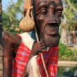 Stock Photo: Male Africwood carvings