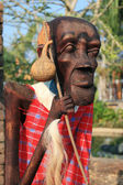 Male African wood carvings — Stock Photo