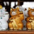 Stock Photo: Wooden Cats