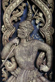 Arte tailandese di intaglio — Foto Stock
