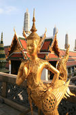 Bird-man statue in Grand Palace — Photo