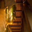 Golden Statue of Reclining Buddha — Stock Photo