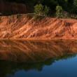 Lake Red Cliffs — Stock Photo
