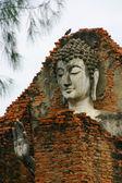 Buddha Face, Thailand — Stock Photo