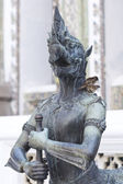 Demon Statue at Wat Phra Kaew, Bangkok — 图库照片
