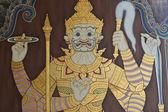 Pubbliche arte pittura presso il wat phra kaew, bangkok — Foto Stock