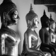 Buddha statue, Black and white — Stock Photo