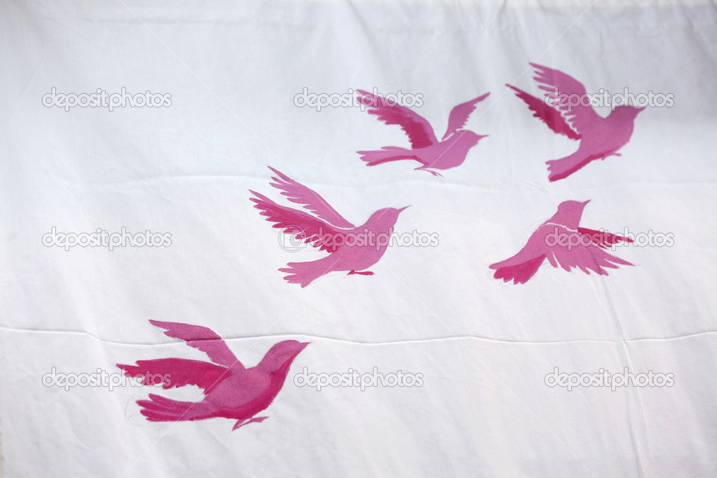 Background with pink birds — Stock Photo #9767559