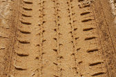 Tire Tracks in the Sand — Stock Photo