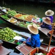 Stock Photo: Floating Market in Thailand