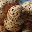 Woven wickerwork ball — Stock Photo